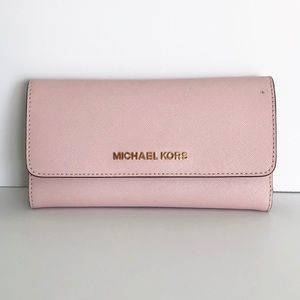 Michael Kors Rose and Gold Wallet